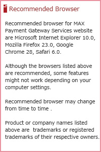 Recommended Browser